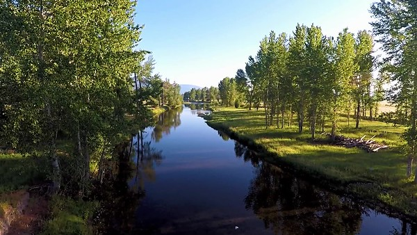 Part of the  Bitterroot River Near Victor, MT