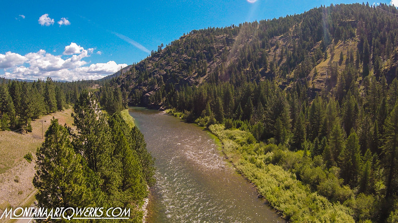 Blackfoot Rive July 18, 2020  Still Image take  as the drone  flew