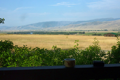 View from the porch on my cabin in Paradise Valley MT