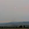 Wildfire smoke turns the sun red in Paradise Valley MT