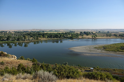 Yellowstone River.  I94 rest area, Hathaway MT