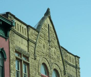 Interesting  architecture. Built in 1894.  THAT'S AN OWL ON THE PEAK...Gallipolis OH.