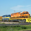 Colorful Rapid City, Pierre & Eastern RR train. Wall SD
