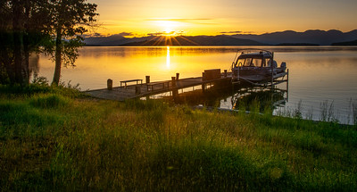 Sunrise over Flathead Lake