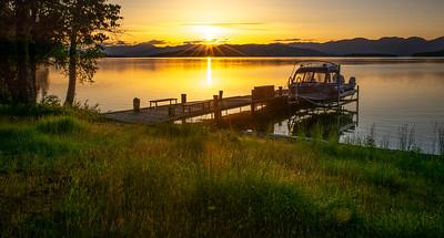 Sunrise over Flathead Lake