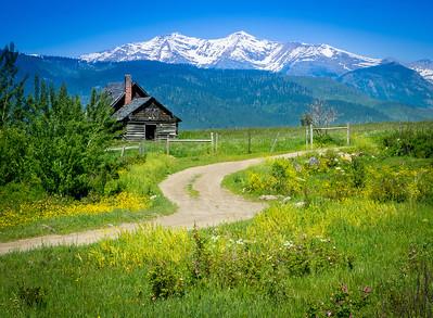 Montana mountain cabin