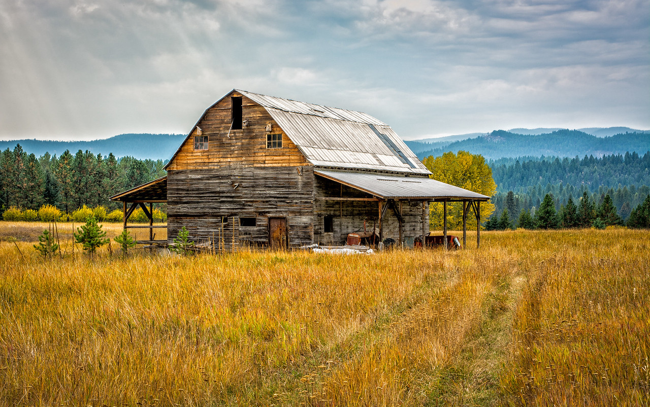 Old Barn on Route 93, Montana