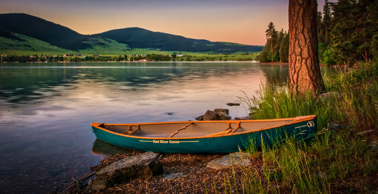 Dawn on Flathead Lake , Montana