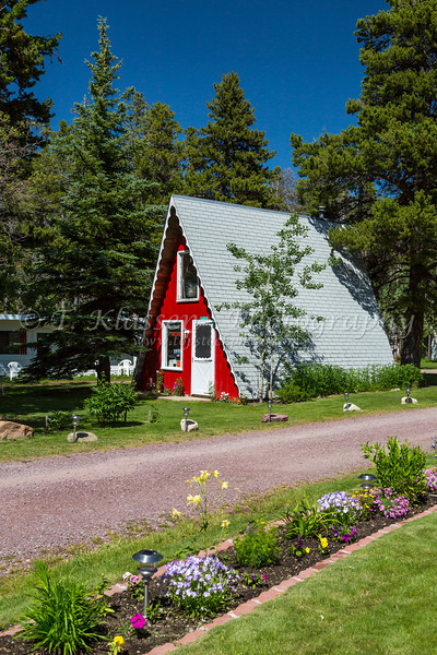 Jacobson's Cottages in East Glacier, Montana, USA.