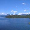 Flathead Lake from the shore.