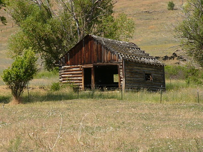 Old cabin near the Flathead River