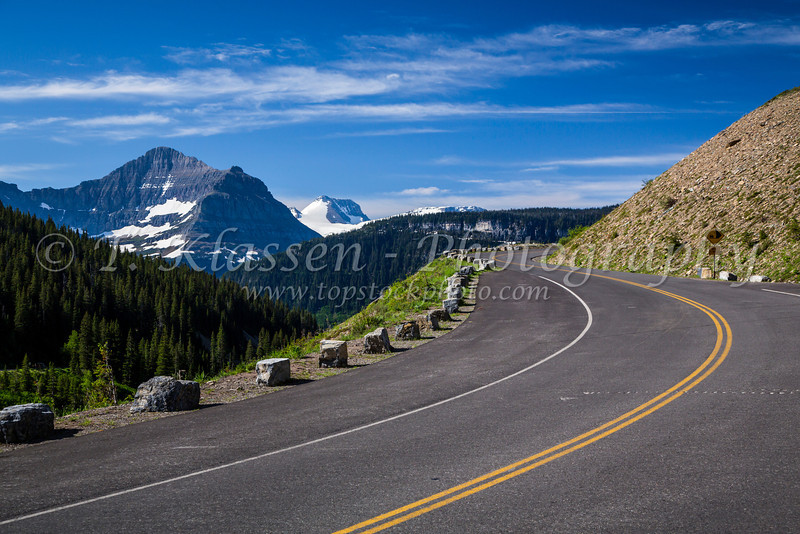 Going to the Sun Road near Logan Pass in Glacier National Park, Montana, USA.