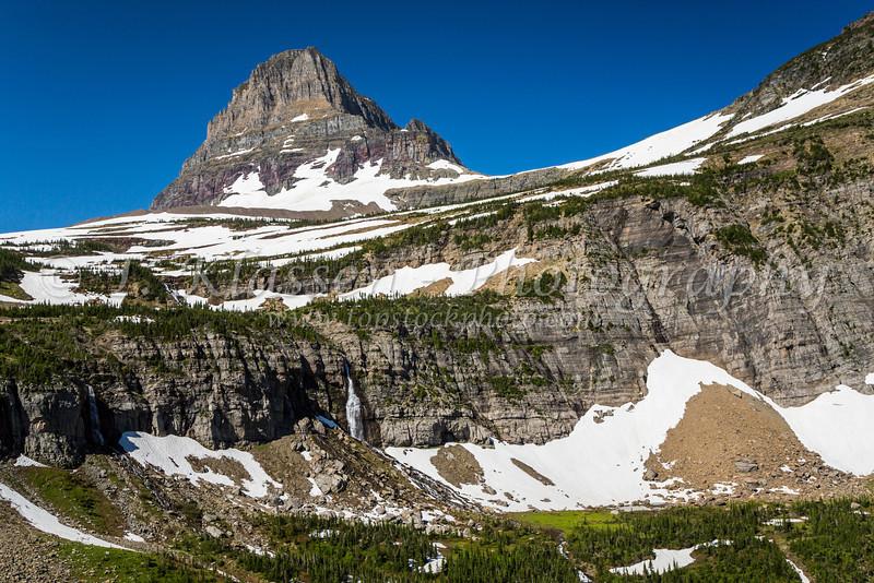 Clements Mountain near Logan Pass in Glacier National Park, Montana, USA.