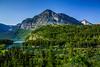 Alpine view near Swiftcurrent Lake, Glacier National Park, Montana, USA.