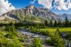 Alpine scenery near Saint Mary Lake in Glacier National Park, Montana, USA.