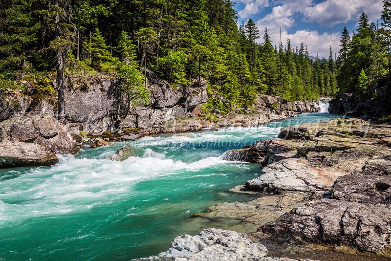 The Flathead River in Glacier National Park, Montana, USA.