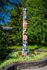 A toem pole at Lake McDonald Lodge at Glacier National Park, Montana, USA.