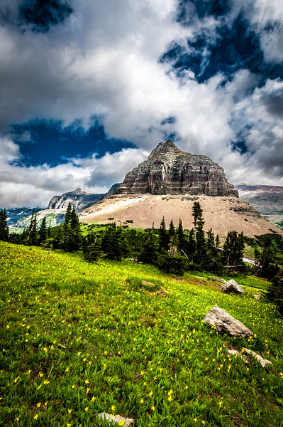 Heavy Runner Mountain - Glacier National Park, MT, USA