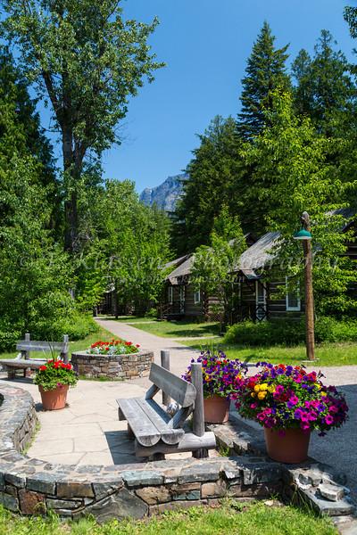 Lake McDonald Lodge at Glacier National Park, Montana, USA.