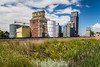 Old rustic grain elevators in Saco, Montana, USA.