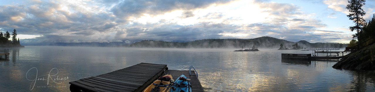 Calm and cold, Flathead Lake Montana in the early morning