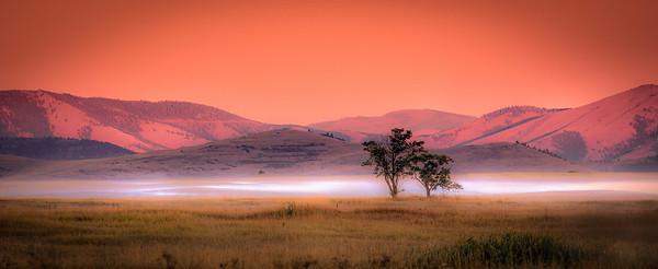 Mystical evening at Ninepipes, Montana