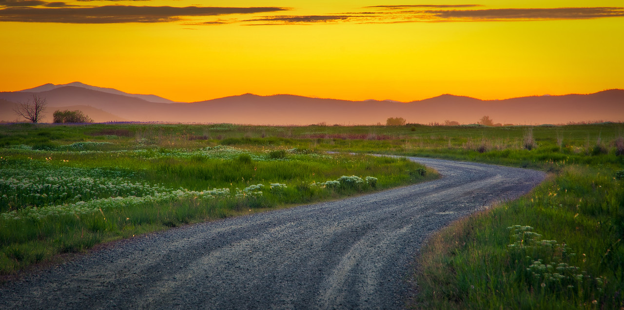 Montana Backroad Sunset