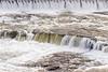 The Rainbow Dam and waterfalls along the Missouri river at Great Falls, Montana, USA, America.