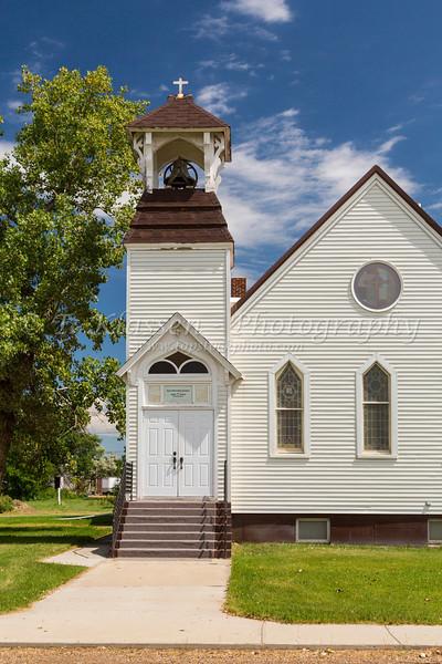 The Methodist Church in Saco, Montana, USA.