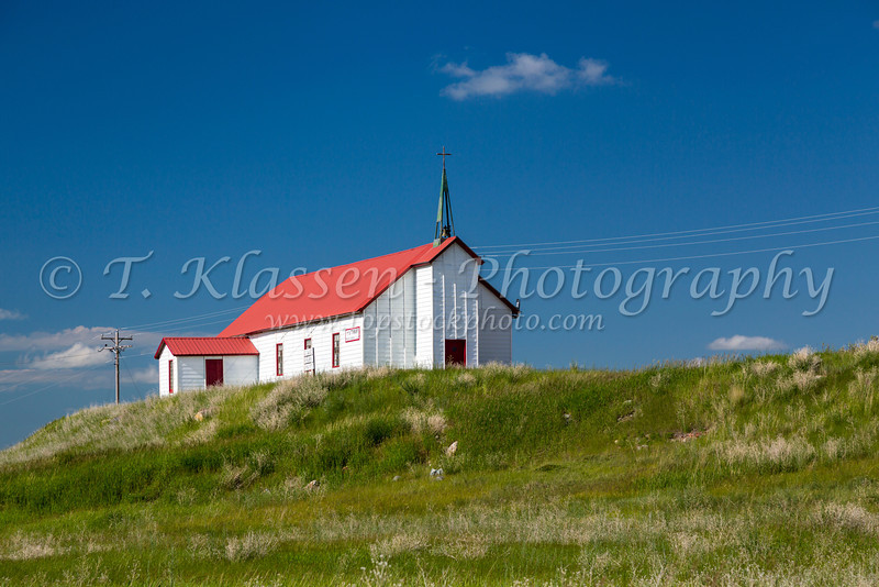 St. Mary Church on a hilltop at Babb, Montana, USA.