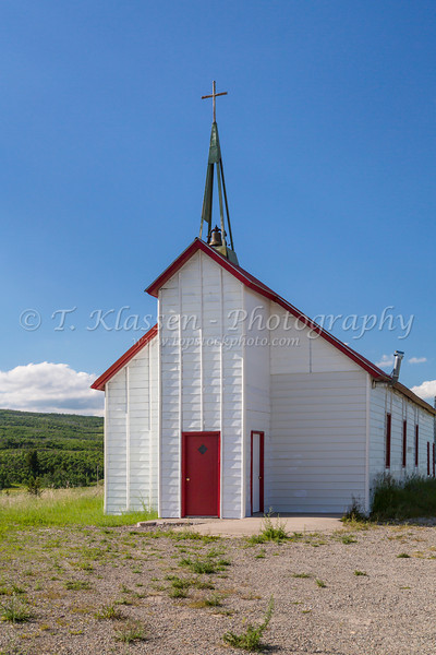St. Mary Church on a hilltop at Babb, Montana, USA.