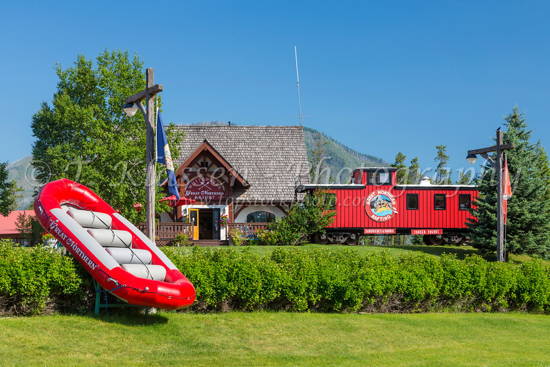 The Great Northern Resort at West Glacier, Montana, USA.
