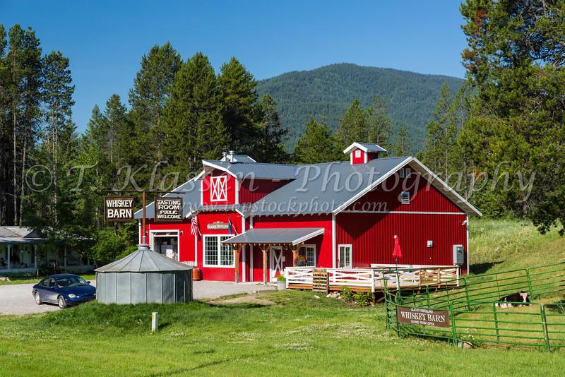 The Whiskey Barn store at Coram, Montana, USA.