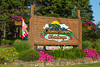 The Columbia Nursery and Landscape outdoor sign in Columbia Falls, Montana, USA.