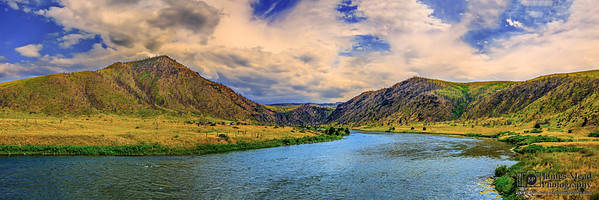 """Lazy Summer Days,"" Madison River Sunset, Madison River, Montana"