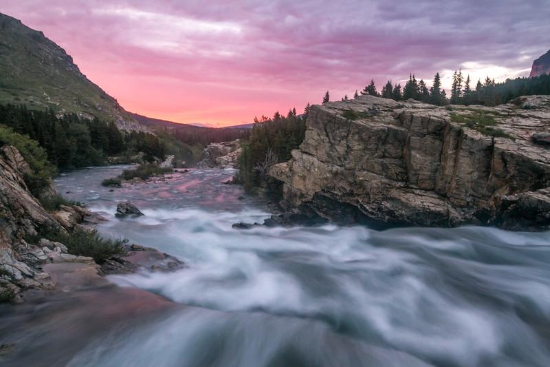 Sunrise, Swiftcurrent Creek, Glacier National Park