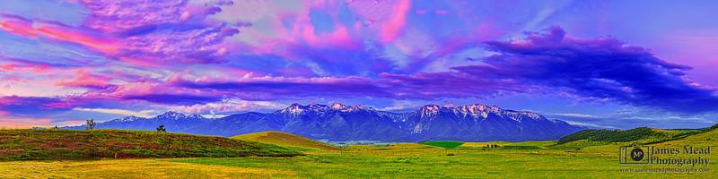 """Mountain Whisper,"" Mission Mountians Sunset, Rocky Mountains, Montana"
