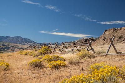 Ranchland off Old Yellowstone Road north of Yankee Jim Canyon, Montana.