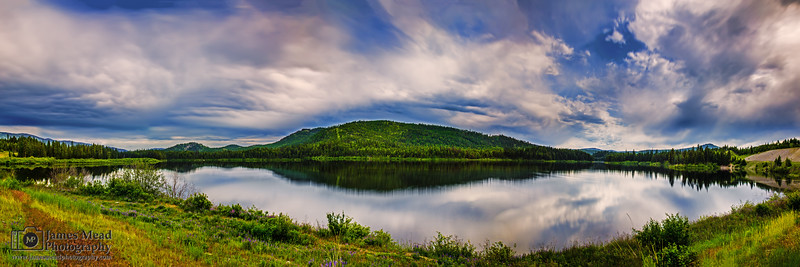 """Parallel,"" Loon Lake reflections, Loon Lake, Montana"