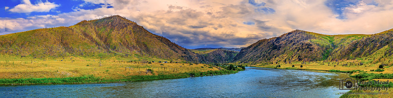 """River Run,"" Madison River Sunset, Madison River, Montana"