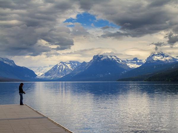 Fishing at Lake Macdonald