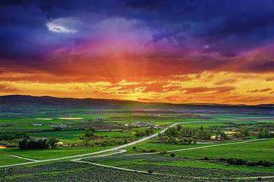 """Western Brilliance,"" Sheids Valley at Sunset, Montana"