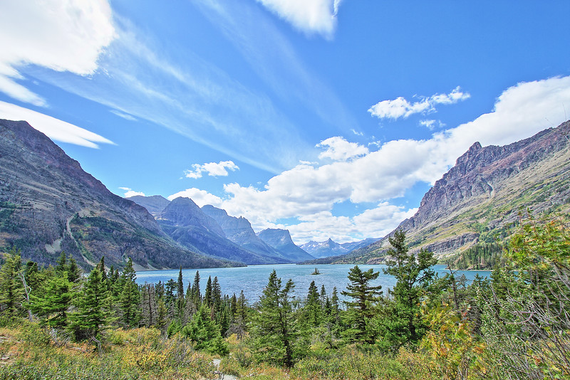 Wild Goose Island in Glacier National Park