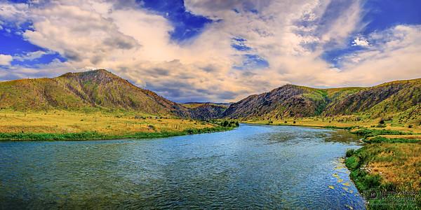 """Summer Floats Away,"" Madison River Sunset, Madison River, Montana"