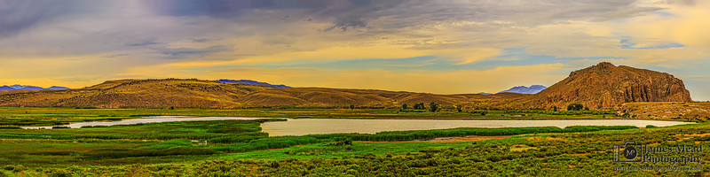 """""""Ancient Recollection,"""" Sunset over Beaverhead Rock and the Beaverhead River, Point of Rocks, Twin Bridges, Montana"""
