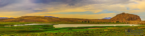 """Ancient Recollection,"" Sunset over Beaverhead Rock and the Beaverhead River, Point of Rocks, Twin Bridges, Montana"