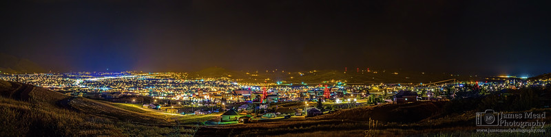 """""""Silverbow,"""" Nightime in Butte Montana, Butte, Montana"""