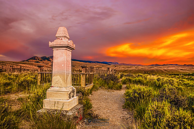 """Eternal Sunset,"" Bannack, Montana"