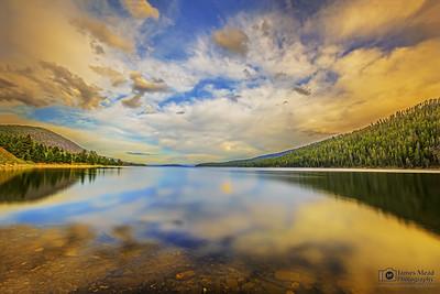 """Heaven's Lake,"" Hebgen Lake Reflections at Sunset, Gallatin County, Montana"