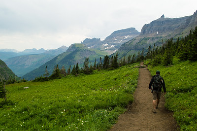 Our first hike: Highline Trail